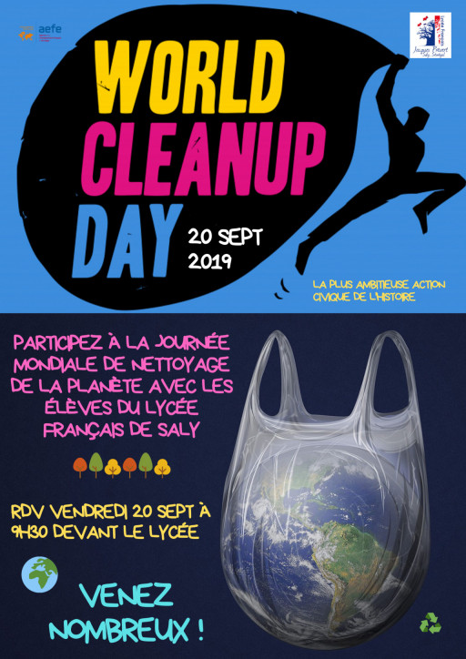 2éme édition du World Clean Up Day vendredi 20 septembre